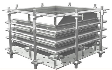 Rectangular Metallic pipe expansion joint